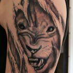 Lion Tattoos 13 150x150 - 100's of Lion Tattoo Design Ideas Picture Gallery