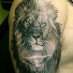 Lion Tattoos 9 150x150 - 100's of Lion Tattoo Design Ideas Picture Gallery