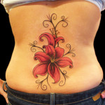 Lower Back Tattoos For Women Flowers 150x150 - 100's of Back Tattoo Design Ideas Picture Gallery