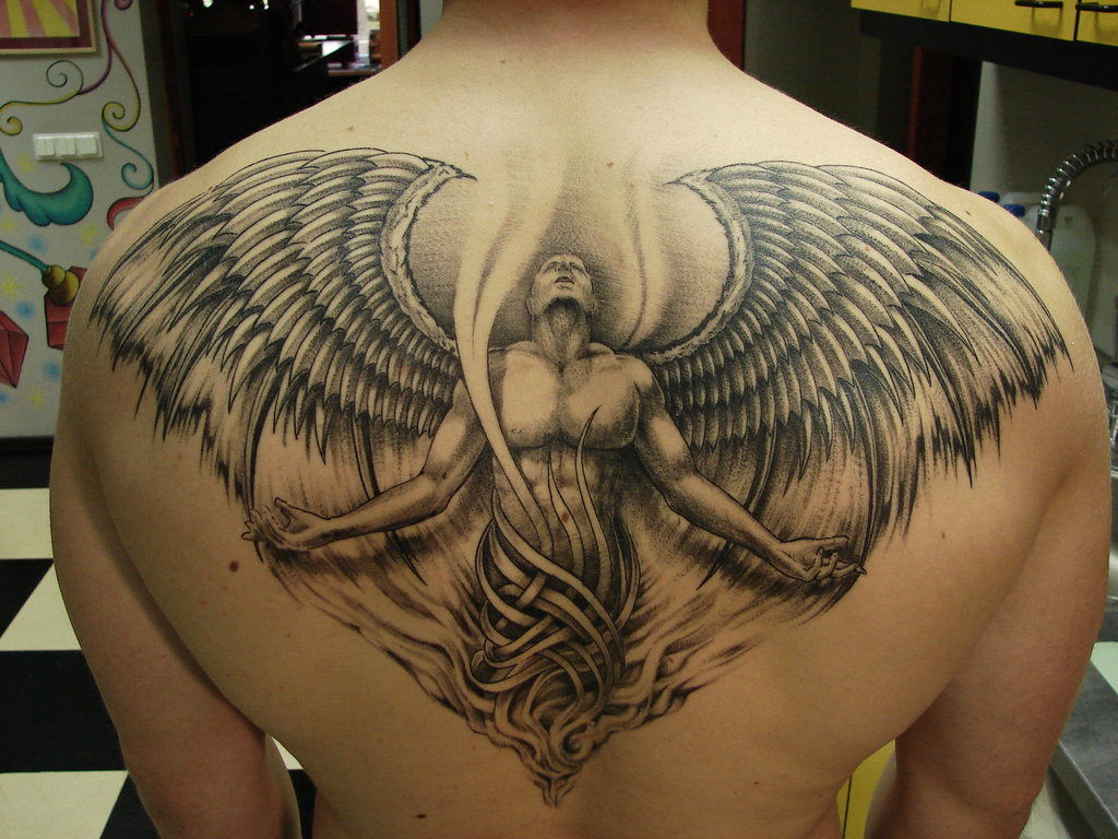100's of Back Tattoo Design Ideas Picture Gallery