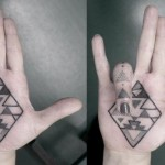 Palm Tattoos 11 150x150 - 100's of Palm Tattoo Design Ideas Picture Gallery