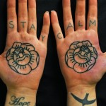 Palm Tattoos 16 150x150 - 100's of Palm Tattoo Design Ideas Picture Gallery
