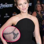 Scarlett Johansson Tattoos 5 150x150 - 100's of Scarlett Johansson Tattoo Design Ideas Picture Gallery