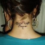 Tattoos on Back of Neck 150x150 - 100's of Thai Tattoo Design Ideas Picture Gallery