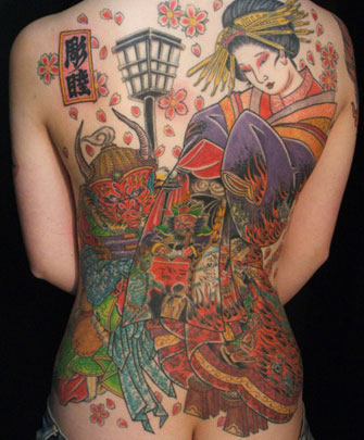 Traditional-Japanese-Tattoos-on-Women