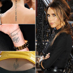 Victoria Beckham Tattoos 14 150x150 - 100's of Victoria Beckham Tattoo Design Ideas Picture Gallery