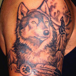 Wolf Tattoos 3 150x150 - 100's of Wolf Tattoo Design Ideas Picture Gallery