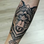 Wolf Tattoos 8 150x150 - 100's of Wolf Tattoo Design Ideas Picture Gallery