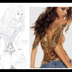 adriana lina tattoo pencil by jinok 150x150 - 100's of Adriana Lima Tattoo Design Ideas Picture Gallery