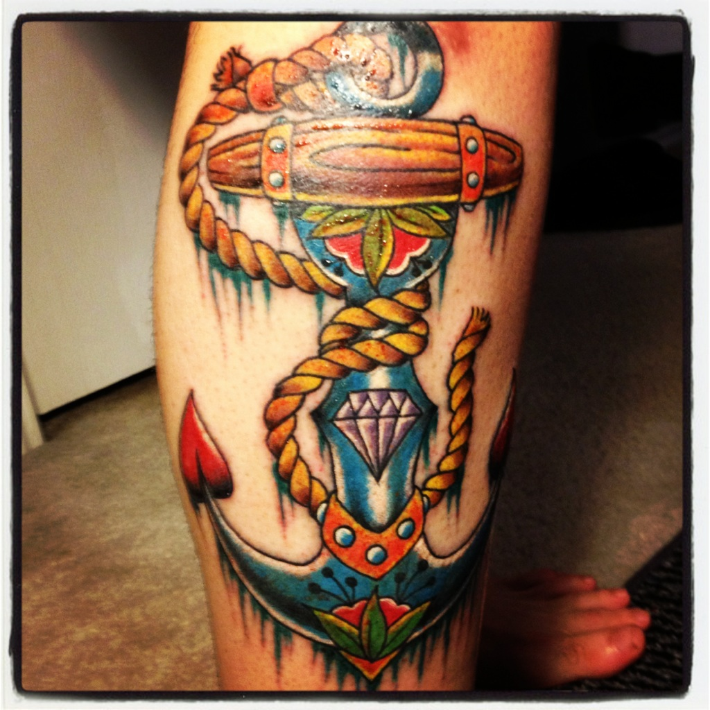 amazing-colored-anchor-tattoo-on-leg