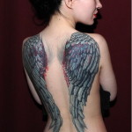angel wings back tattoos design 150x150 - 100's of Back Tattoo Design Ideas Picture Gallery