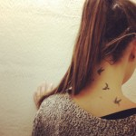 birds tattoo on neck back 150x150 - 100's of Thai Tattoo Design Ideas Picture Gallery