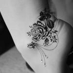 black rose tattoo 150x150 - 100's of Rose Tattoo Design Ideas Picture Gallery