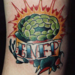 brain tattoos 1 150x150 - 100's of Brain Tattoo Design Ideas Picture Gallery