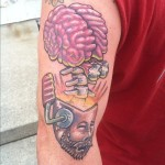 brain tattoos 11 150x150 - 100's of Brain Tattoo Design Ideas Picture Gallery