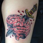 brain tattoos 2 150x150 - 100's of Brain Tattoo Design Ideas Picture Gallery