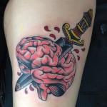 brain tattoos 2 150x150 - 100's of Brain Tattoo Design Ideas Picture Gallery