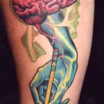 brain tattoos 3 150x150 - 100's of Brain Tattoo Design Ideas Picture Gallery
