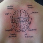 brain tattoos 4 150x150 - 100's of Brain Tattoo Design Ideas Picture Gallery