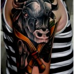 bull tattoos 10 150x150 - 100's of Bull Tattoo Design Ideas Picture Gallery
