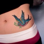 colourful bird tattoo1 150x150 - 100's of Birds Tattoo Design Ideas Picture Gallery
