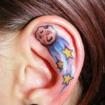 ear tattoos 1 150x150 - 100's of Ear Tattoo Design Ideas Picture Gallery