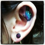 ear tattoos 10 150x150 - 100's of Ear Tattoo Design Ideas Picture Gallery