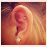 ear tattoos 11 150x150 - 100's of Ear Tattoo Design Ideas Picture Gallery