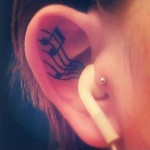 ear tattoos 14 150x150 - 100's of Ear Tattoo Design Ideas Picture Gallery