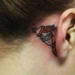 ear tattoos 8 150x150 - 100's of Ear Tattoo Design Ideas Picture Gallery