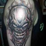 evil skull tattoos for man 150x150 - 100's of Skull Tattoo Design Ideas Picture Gallery