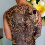 full back dragon tattoo for men 150x150 - 100's of Back Tattoo Design Ideas Picture Gallery