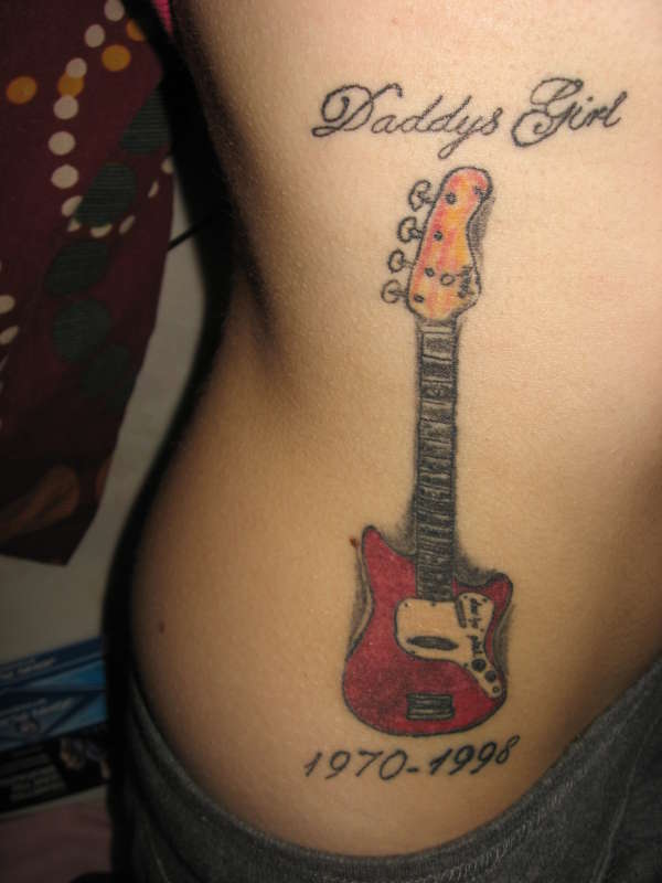 guitar tattoos 1 - 100's of Guitar Tattoo Design Ideas Picture Gallery