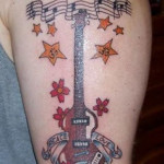 guitar tattoos 10 150x150 - 100's of Guitar Tattoo Design Ideas Picture Gallery