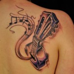 guitar tattoos 11 150x150 - 100's of Guitar Tattoo Design Ideas Picture Gallery