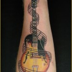 guitar tattoos 3 150x150 - 100's of Guitar Tattoo Design Ideas Picture Gallery