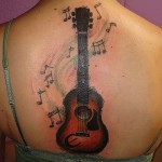 guitar tattoos 5 150x150 - 100's of Guitar Tattoo Design Ideas Picture Gallery