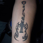 guitar tattoos 9 150x150 - 100's of Guitar Tattoo Design Ideas Picture Gallery