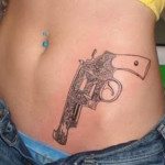 gun tattoos 10 150x150 - 100's of Gun Tattoo Design Ideas Picture Gallery