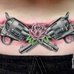 gun tattoos 11 150x150 - 100's of Gun Tattoo Design Ideas Picture Gallery