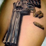 gun tattoos 13 150x150 - 100's of Gun Tattoo Design Ideas Picture Gallery