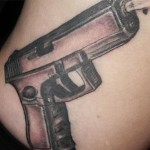 gun tattoos 7 150x150 - 100's of Gun Tattoo Design Ideas Picture Gallery
