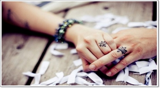 ring tattoos 1 - 100's of Ring Tattoo Design Ideas Picture Gallery