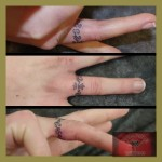 ring tattoos 14 150x150 - 100's of Ring Tattoo Design Ideas Picture Gallery