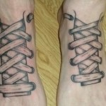 shoes tattoos 1 150x150 - 100's of Shoes Tattoo Design Ideas Picture Gallery