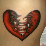 side broken heart tattoo 150x150 - 100's of Heart Tattoo Design Ideas Picture Gallery
