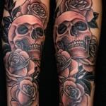 skull tattoos 3 150x150 - 100's of Skull Tattoo Design Ideas Picture Gallery
