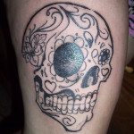 sugar skull tattoo 150x150 - 100's of Skull Tattoo Design Ideas Picture Gallery