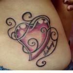 swirly heart tattoo design 150x150 - 100's of Heart Tattoo Design Ideas Picture Gallery