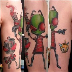 half sleeve color ink animated alien tattoo 300x300 - half-sleeve-color-ink-animated-alien-tattoo